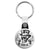 Ace of Spades - Trust Me Top Hat Skull - Biker Key Ring