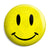 Acid House Rave Techno 80's Smiley Face - Button Badge
