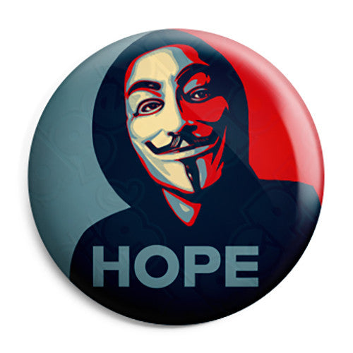 Anonymous - Hope Obama - Activist Hacktivist Button Badge