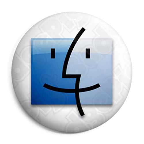 Apple - Mac Computer Finder Logo - Button Badge