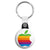 Apple - Mac Computer Rainbow Logo - Key Ring