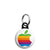 Apple - Mac Computer Rainbow Logo - Mini Keyring