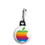 Apple - Mac Computer Rainbow Logo - Zipper Puller