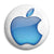 Apple - Mac Computer Aqua Logo - Button Badge