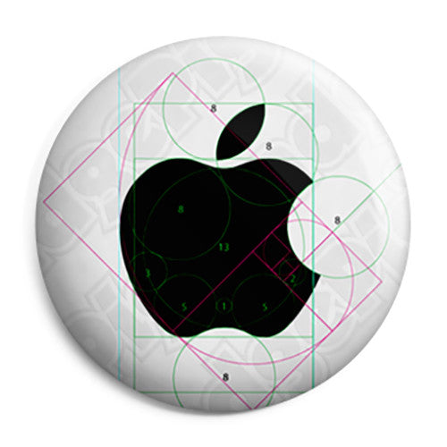Apple - Mac Computer Draftsman Logo - Button Badge
