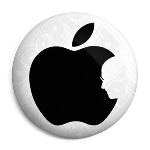 Apple Mac- Steve Jobs RIP Logo - Button Badge