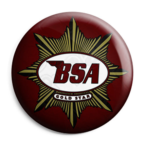 BSA Motorcycles - Gold Star Vintage Logo Button Badge