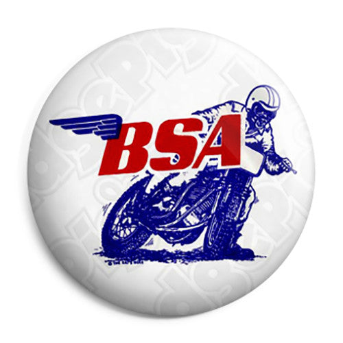 BSA Motorcycles - Trail Bike Vintage Logo Button Badge