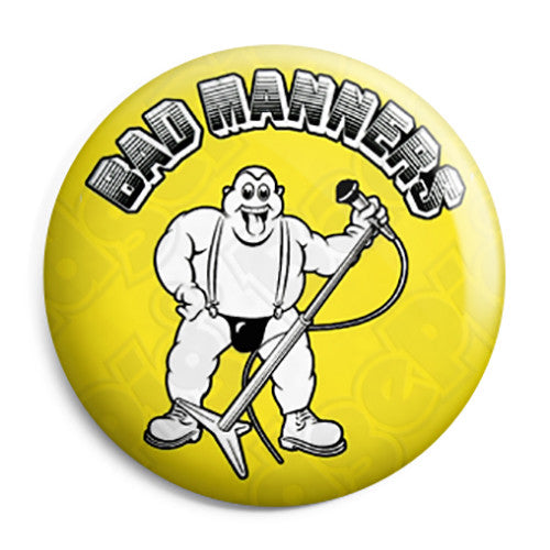 Bad Manners - Band Logo Lip Up Fatty Button Badge