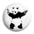 Banksy Gun Panda - Graffiti Button Badge