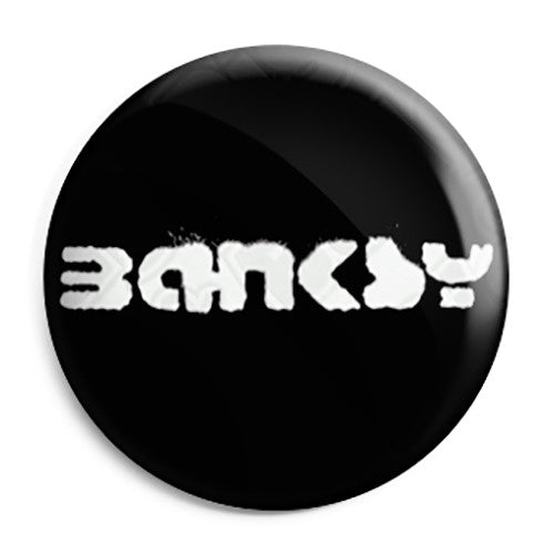 Banksy Name Tag Logo - Graffiti Button Badge