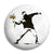 Banksy Riot Flower Thrower - Graffiti Button Badge