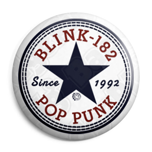 Blink-182 - Converse Logo - Pop Punk Button Badge