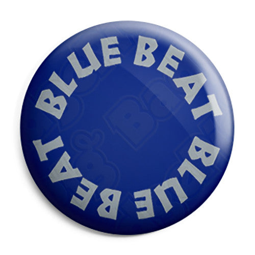 Blue Beat Records Logo - Ska Skinhead Reggae Button Badge