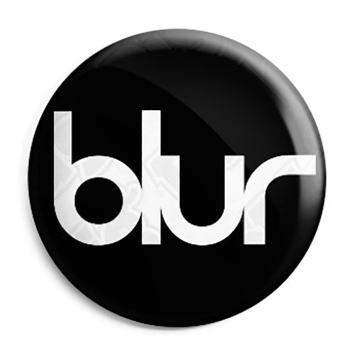 Blur Band Logo - 90's Indie Britpop Button Badge