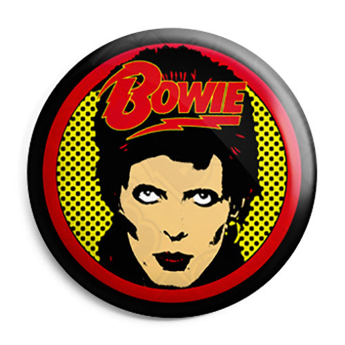 David Bowie - Glam Pop Rock Flash Logo Pin Button Badge