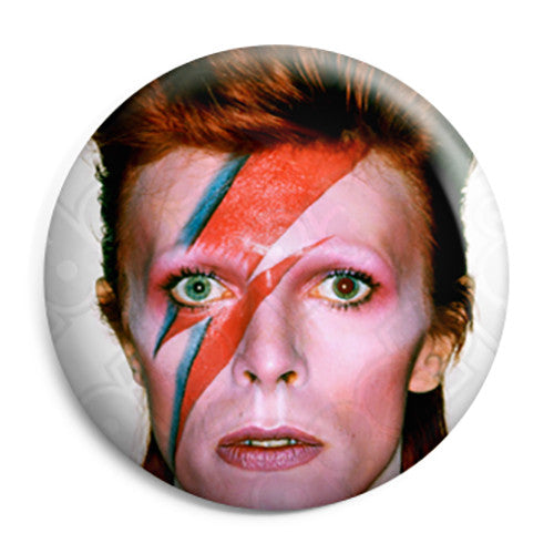 David Bowie - Ziggy Stardust Glam Pop Pin Button Badge