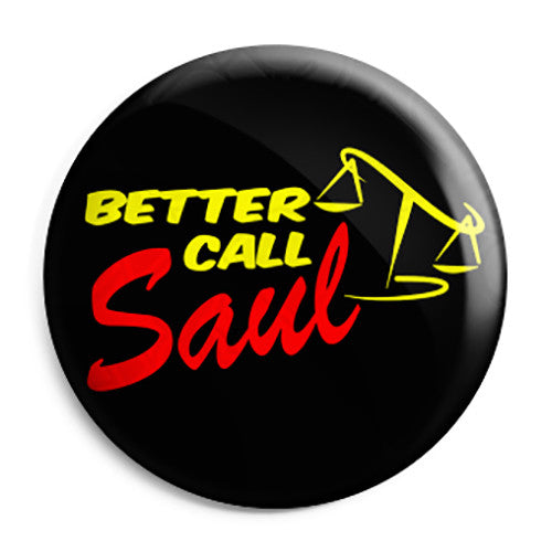 Breaking Bad - Better Call Saul TV Show Logo - Button Badge