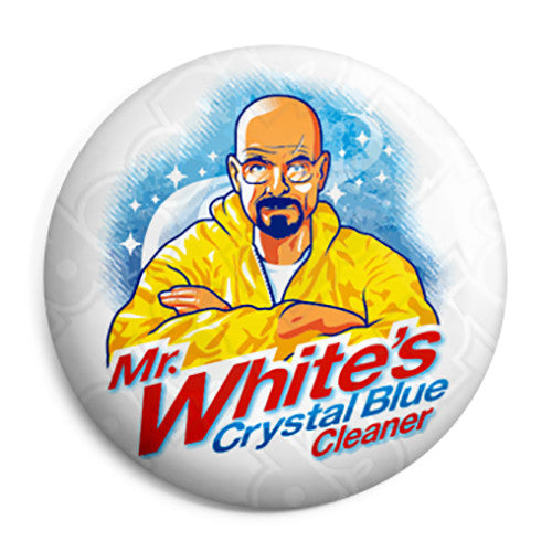 Breaking Bad - Mr White's Crystal Blue Cleaner - Button Badge