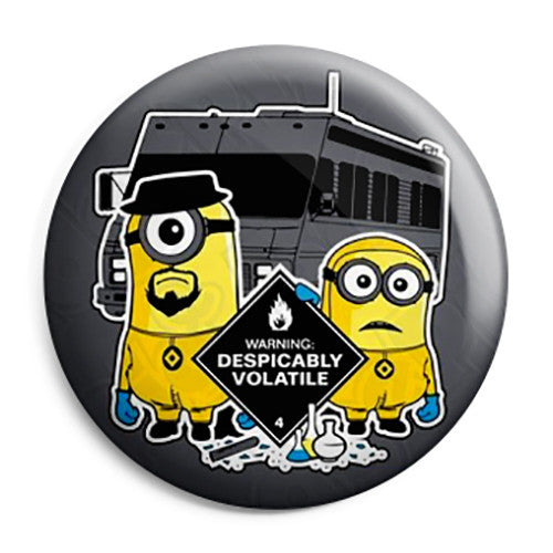 Breaking Bad - Walt and Jesse Despicably Volatile - Button Badge