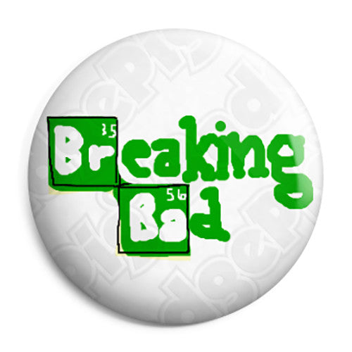 Breaking Bad - Doodle Show TV Show Logo - Button Badge