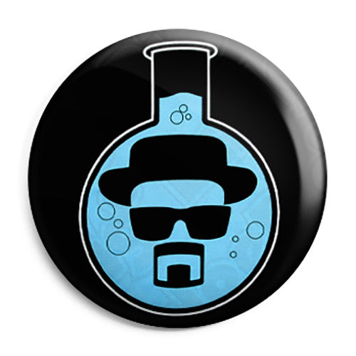 Breaking Bad - Heisenberg Chemistry Flask - Button Badge