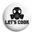 Breaking Bad - Let's Cook Chemistry Gas Mask - Button Badge