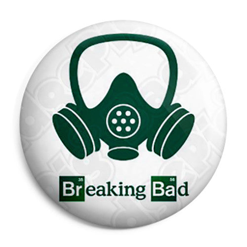 Breaking Bad - Chemistry Gas Mask Logo - Button Badge