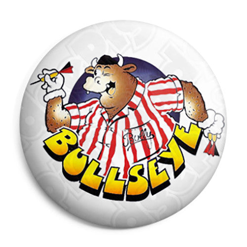 Bullseye Bully - Darts TV Quiz ITV Program - Button Badge