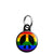 CND Logo - Love and Peace Hippy Symbol Mini Keyring