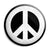 CND Logo - Love and Peace Hippy Symbol Button Badge