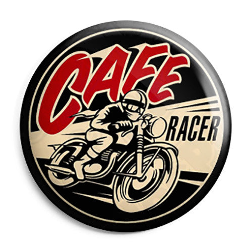 Cafe Motorbike Racer - Vintage Motorcycle Button Badge