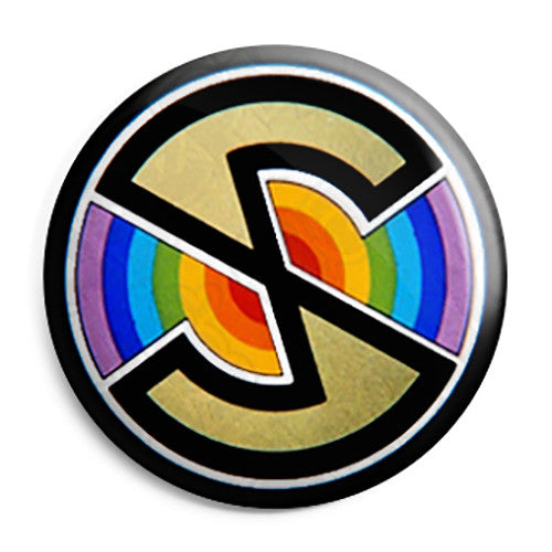 Spectrum Logo - Kids Retro TV ITV Program - Button Badge