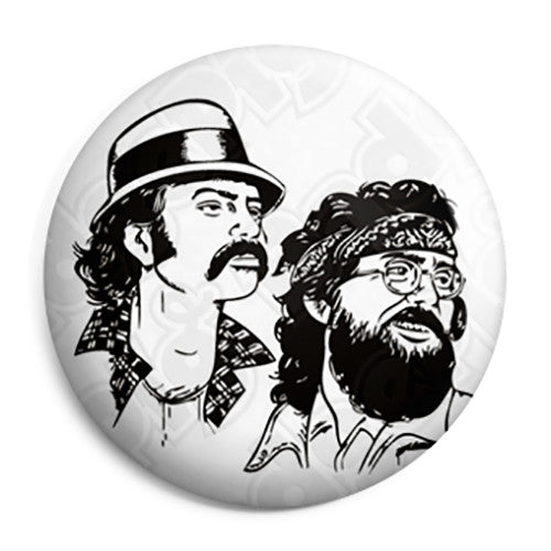 Cheech & Chong - Black & White - Button Badge