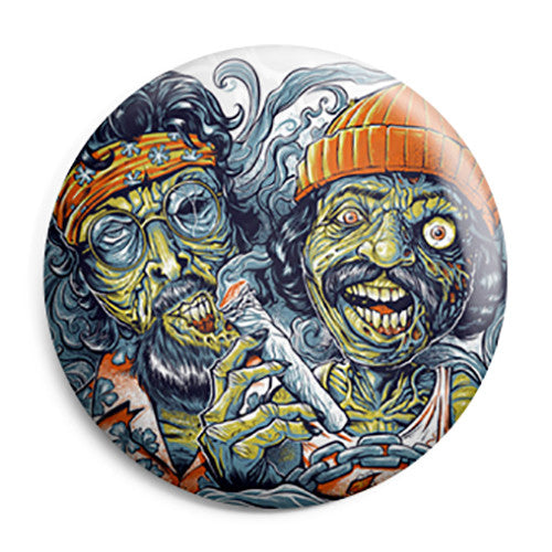 Cheech & Chong - Spliff Zombies - Button Badge