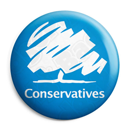 Conservative Party Logo - Political Election Button Badge