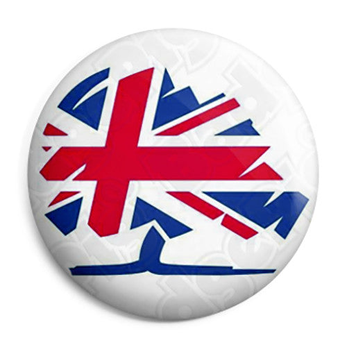 Conservative Union Jack Logo - Political Election Pin Button Badge
