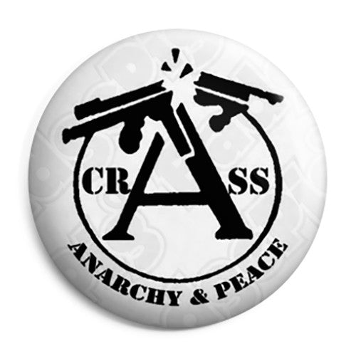 Crass - Anarchy & Peace - Punk Button Badge