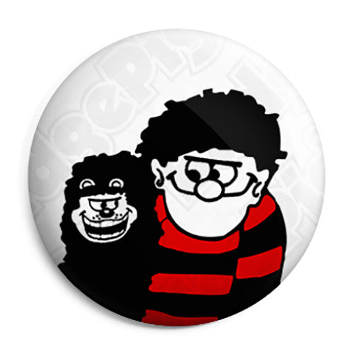 Paul Weller - The Jam - Dennis the Menace and Gnasher Beano Button Badge