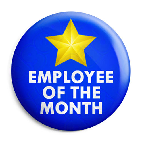 Employee Of The Month Award Button Badge Fridge Magnet