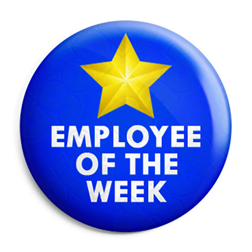 Employee Of The Week Award Button Badge Fridge Magnet