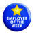 Employee of the Week - Business Work Award Button Badge