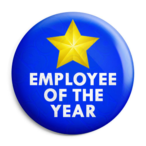 Employee of the Year - Business Work Award Button Badge