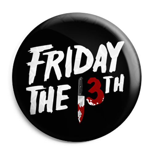 Friday the 13th - Horror Film Logo Button Badge