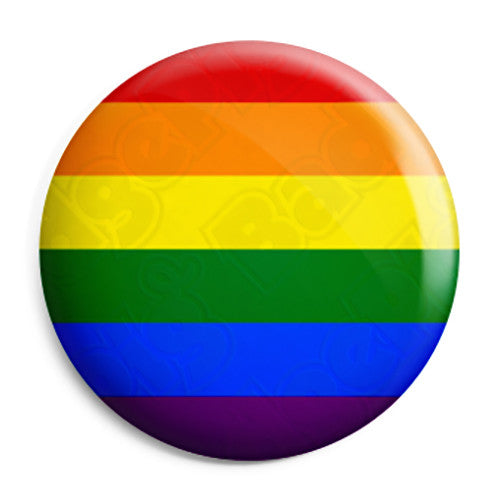 Gay Pride Flag - LGBT Rainbow Button Badge
