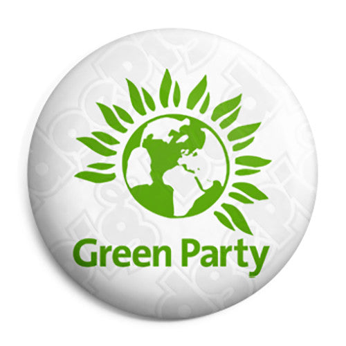 Green Party Logo - Political Election Button Badge