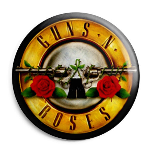 Guns N Roses - Bullet Band Logo 80's Heavy Rock Pin Button Badge