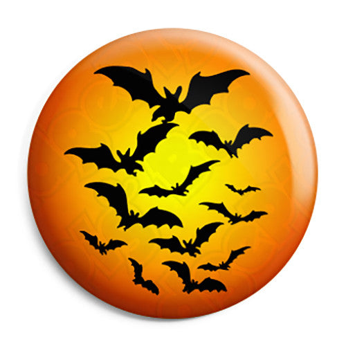 Halloween Night Bats - Trick or Treat Button Badge