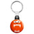 Cute Fuzzy Face Monster - Horror Trick or Treat Key Ring