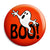 Cute Boo Ghost - Horror Halloween Trick or Treat Button Badge